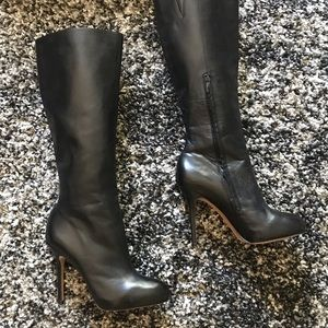Sam Edelman black leather tall boots